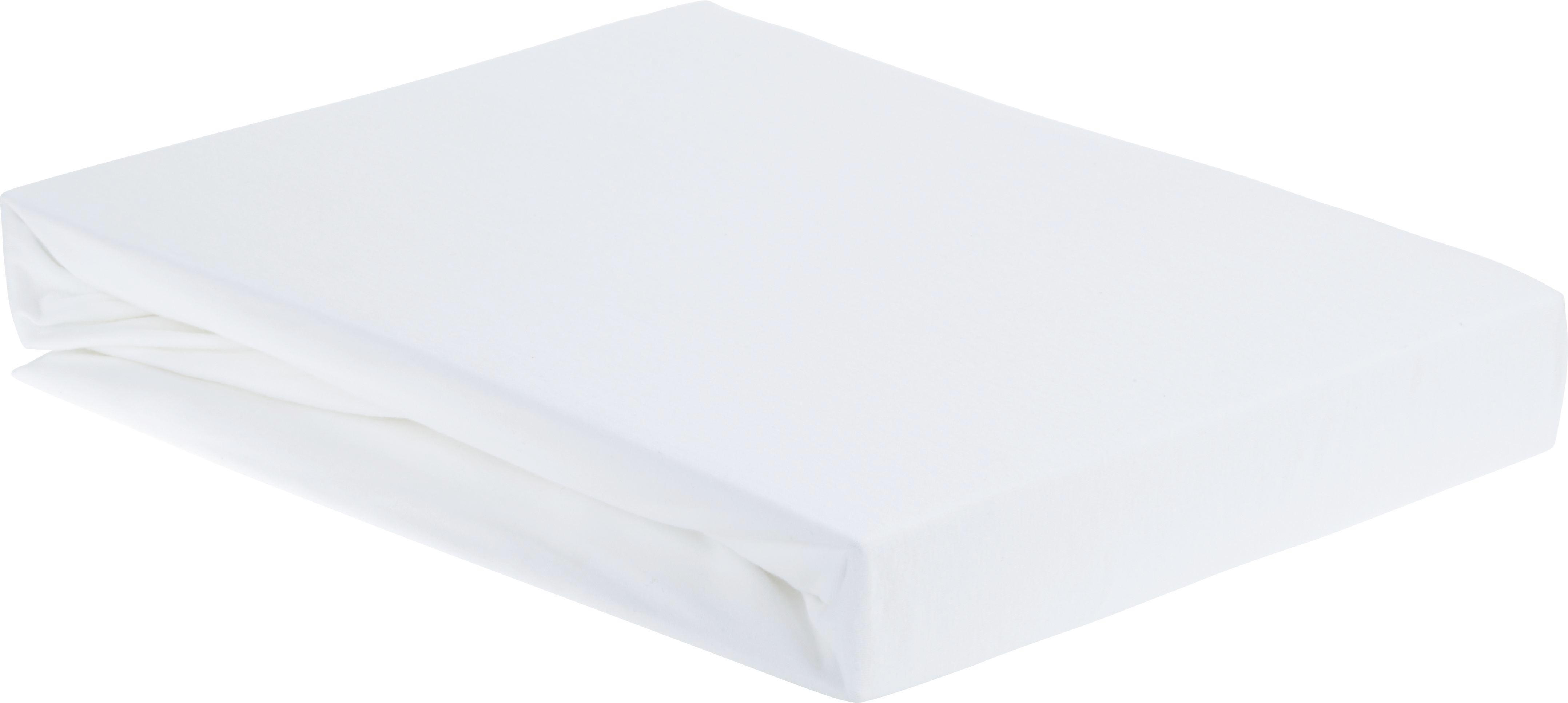 Spannbetttuch Elasthan ca. 180x200cm - Weiß, Textil (180/200cm) - PREMIUM LIVING