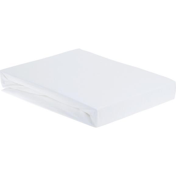 Spannbetttuch ELASTHAN TOPPER 100x200cm - Weiß, Textil (100/200/15cm) - Premium Living