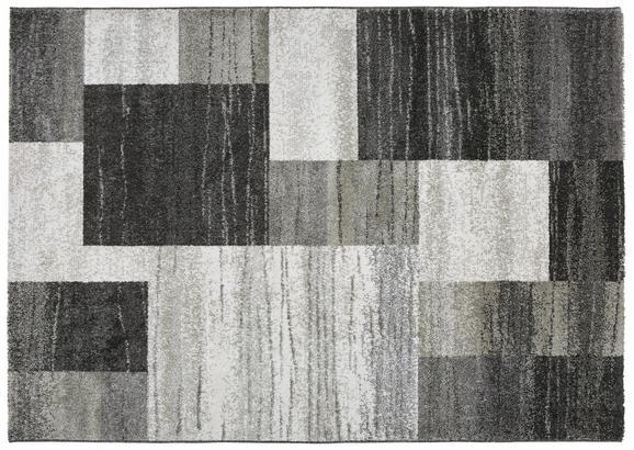 Webteppich Tina ca. 120x170cm - Anthrazit/Beige, KONVENTIONELL, Textil (120/170cm)