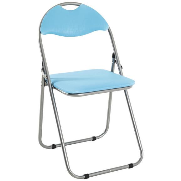 Zložljiv Stol Shake - modra, Moderno, kovina/umetna masa (44/80/47cm)