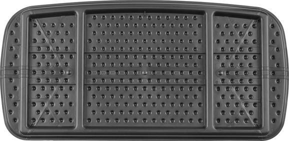 Schuhablage Egon verschiedene Farben - Silberfarben/Schwarz, Kunststoff (79,5/39/3cm) - Mömax modern living