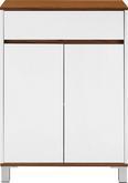 Badezimmerschrank Franca - Weiß/Kieferfarben, MODERN, Holz/Metall (60/86/30cm) - Mömax modern living