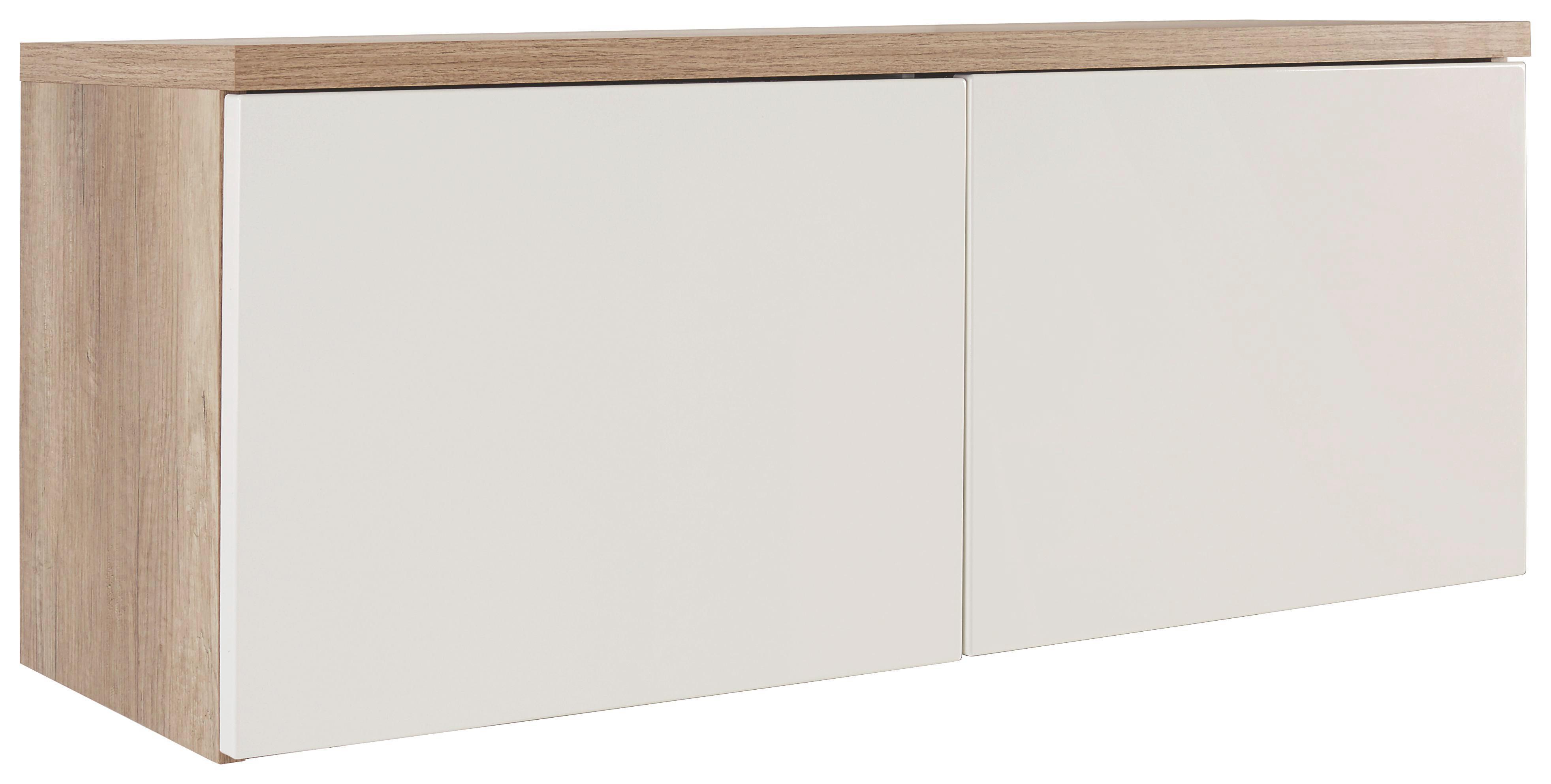 Előszoba Rátét Szekrény Space - tölgy színű/fehér, modern (100/40/35cm)