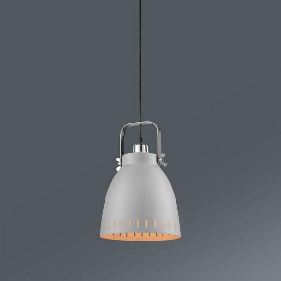 Hängeleuchte Basti, max. 1x60 Watt - Grau, LIFESTYLE, Metall (21,5/120cm) - Mömax modern living