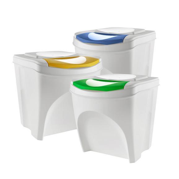 Abfalleimerset Sorty 3-teilig - Blau/Gelb, MODERN, Kunststoff - Mömax modern living