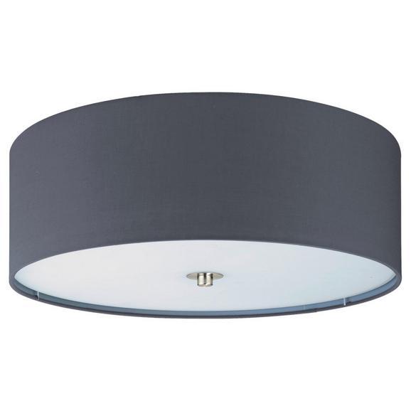 Deckenleuchte max. 60 Watt 'Pasteri' - Grau/Nickelfarben, MODERN, Textil/Metall (47,5/19,5cm)