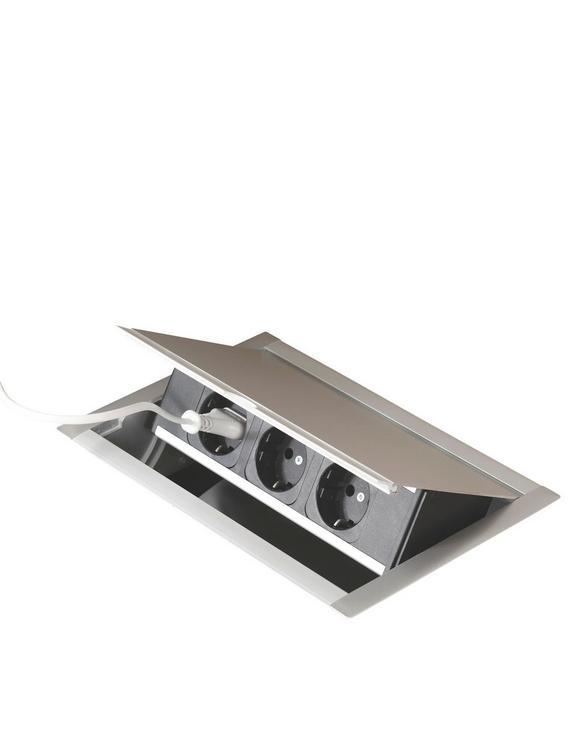 Steckdosenelement 079415 - Alufarben, ROMANTIK / LANDHAUS, Metall (26,3/14,5/17,6cm)