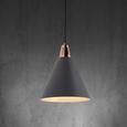 Hängeleuchte max. 60 Watt 'Xander' - Grau/Kupferfarben, MODERN, Metall (31/31/120cm) - Bessagi Home