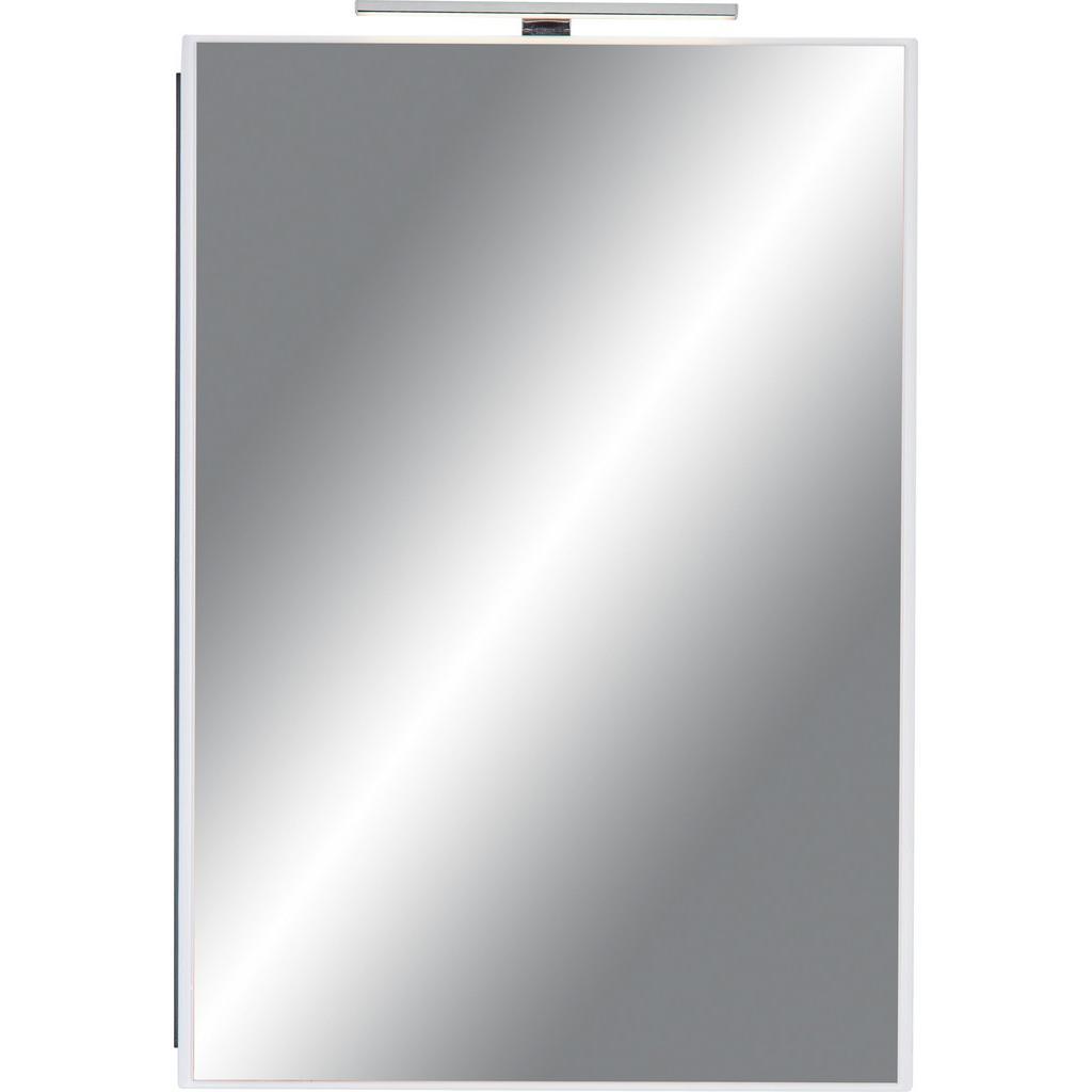 Spiegelschrank Weiß/Braun