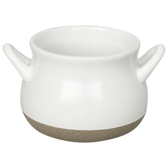 Farfurie Adâncă Emilia - alb, Romantik / Landhaus, ceramică (9,5/7,5cm) - Zandiara