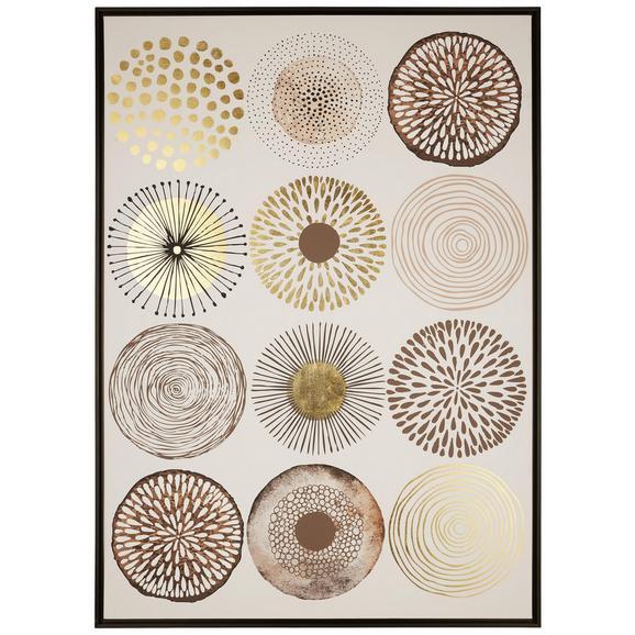 Slika Denise - wenge/črna, tekstil/leseni material (104/144/4,3cm) - Modern Living