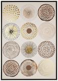 Slika Lucie - wenge/črna, leseni material/tekstil (104/144/4,3cm) - Modern Living