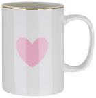 Kávésbögre Bibi - Rózsaszín/Fehér, romantikus/Landhaus, Kerámia (7,9/10,8cm) - Mömax modern living