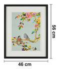 Bild Birdy II ca.46x56x3cm - Multicolor/Schwarz, MODERN, Glas/Holz (46/56/3cm) - Mömax modern living