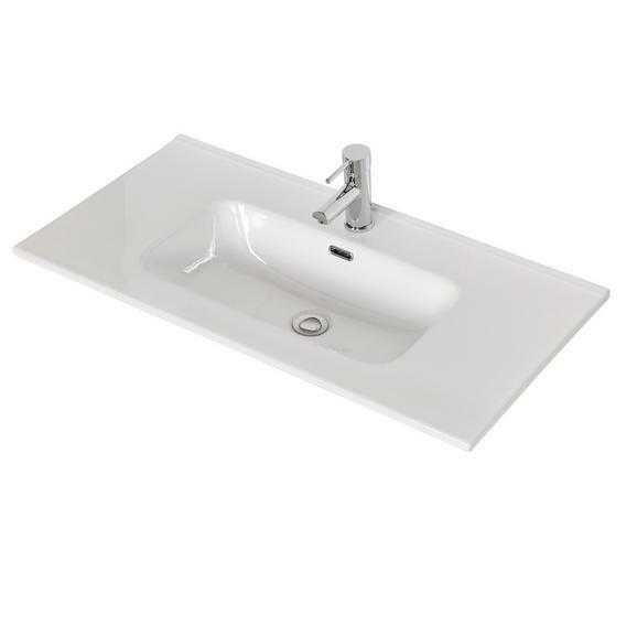 Lavoar Denia - alb, Konventionell, ceramică (90/18/46cm)