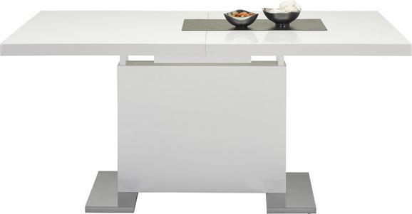 Jedilna Miza Campino - bela/krom, Moderno, kovina/leseni material (160-200/76/90cm)