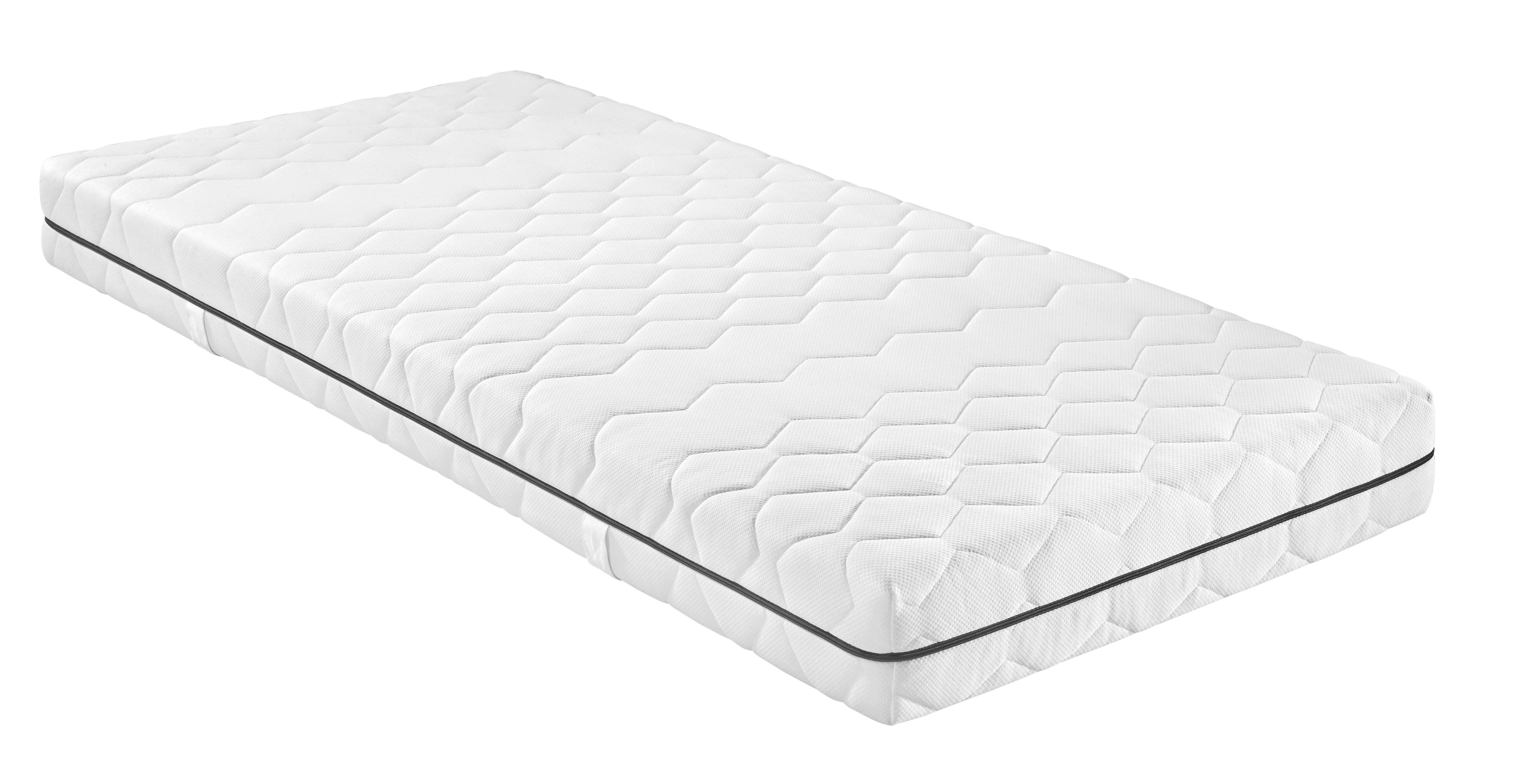 Ležišče Z Žepkastim Vzmetenjem Living Pur - bela, Konvencionalno, tekstil (200/90/19cm) - NADANA