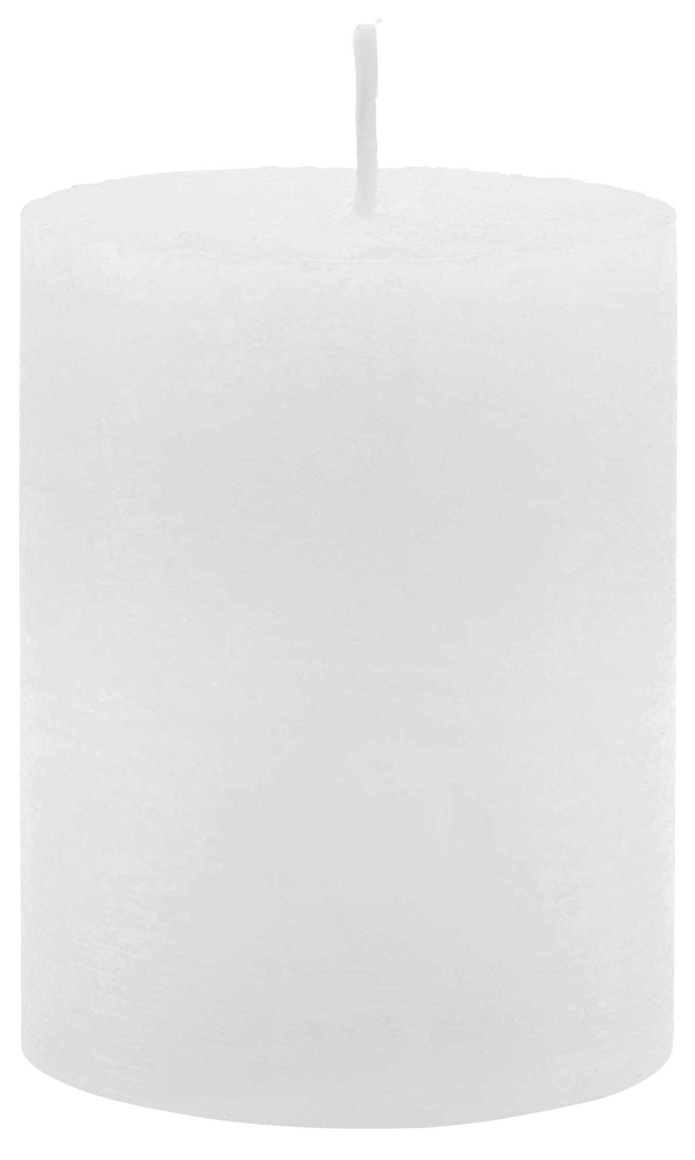 Tömbgyertya Lia - fehér, modern (6,8/9cm) - MÖMAX modern living