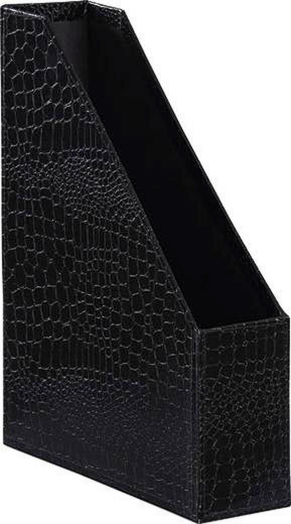 Aktenhalter Krokodilllederoptik - Schwarz, LIFESTYLE, Karton (29/23,5/6,35cm) - MÖMAX modern living