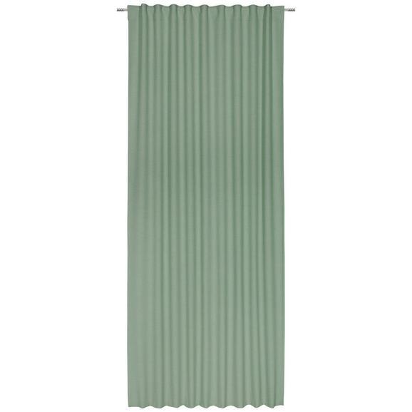 Končana Zavesa Leo -top- - olivno zelena , tekstil (135/255cm) - Premium Living