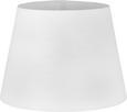 Leuchtenschirm Puse in Weiß - Weiß, ROMANTIK / LANDHAUS, Textil/Metall (25-35/25cm) - Mömax modern living