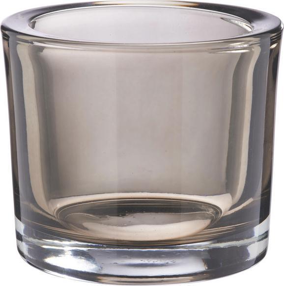 Teamécses Tartó Silke - fekete/tiszta, modern, üveg (9/8cm) - MÖMAX modern living
