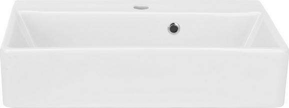 Waschbecken in Weiß aus Keramik - Weiß, Keramik (60/13/35cm) - Mömax modern living