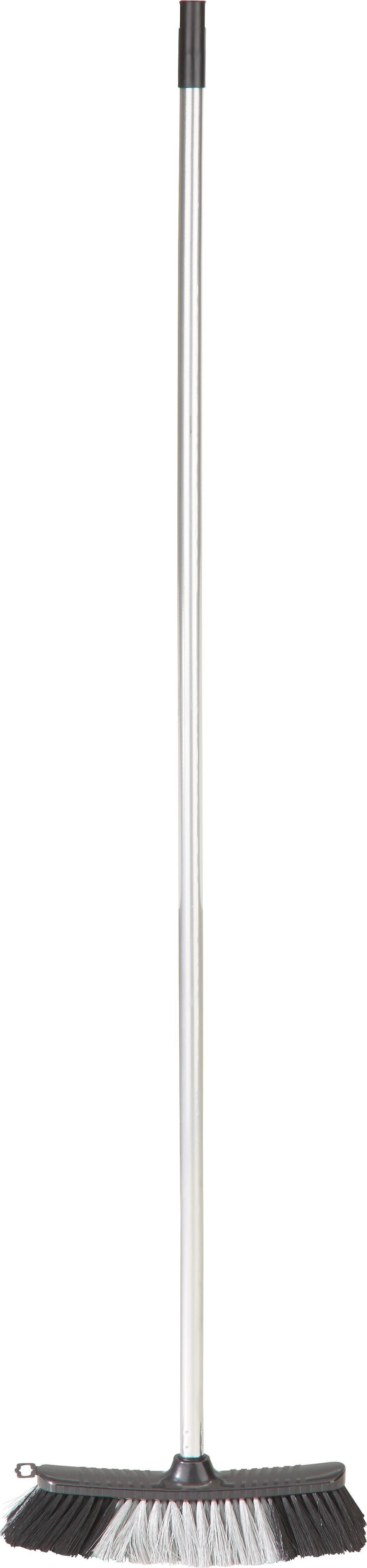 Besen Edgar in Schwarz/chromfarben - Schwarz, Kunststoff (126/6/4cm)