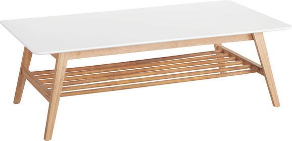 Couchtisch in Weiß/Eichefarben - Eichefarben/Weiß, MODERN, Holz/Holzwerkstoff (130/43/70cm) - Mömax modern living