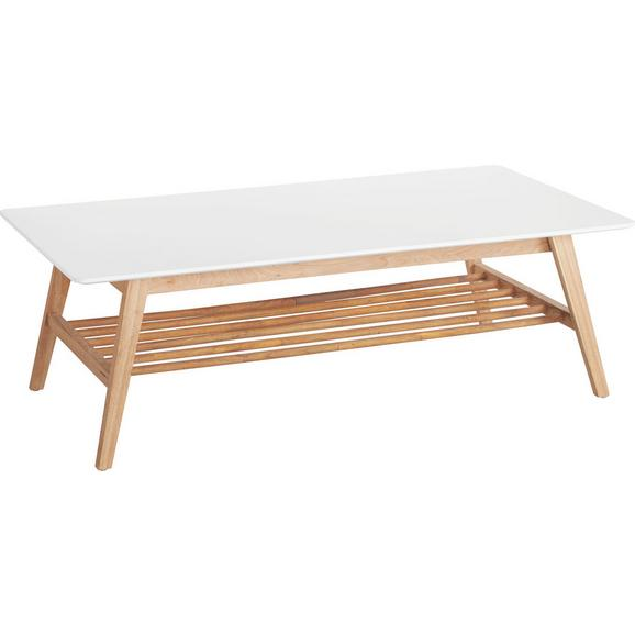 Klubska Miza Durham - bela/hrast, Moderno, leseni material/les (130/43/70cm) - Mömax modern living