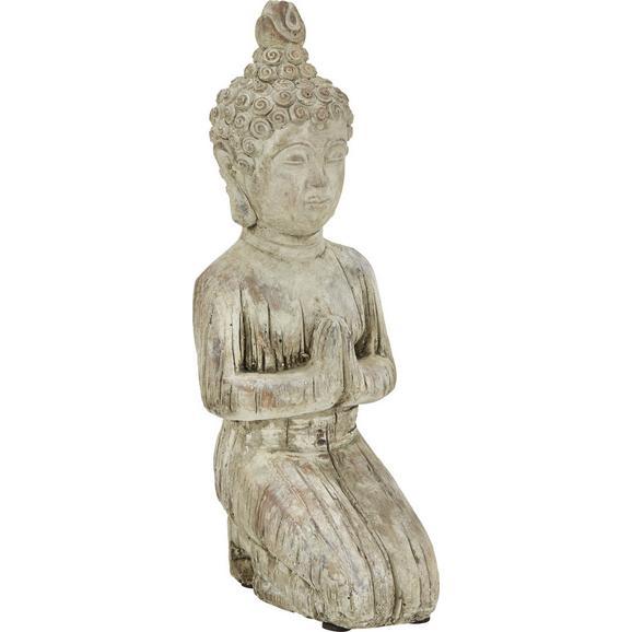 Buddha knieend aus Stein - Braun, KONVENTIONELL, Stein (14/11,5/32cm) - Mömax modern living