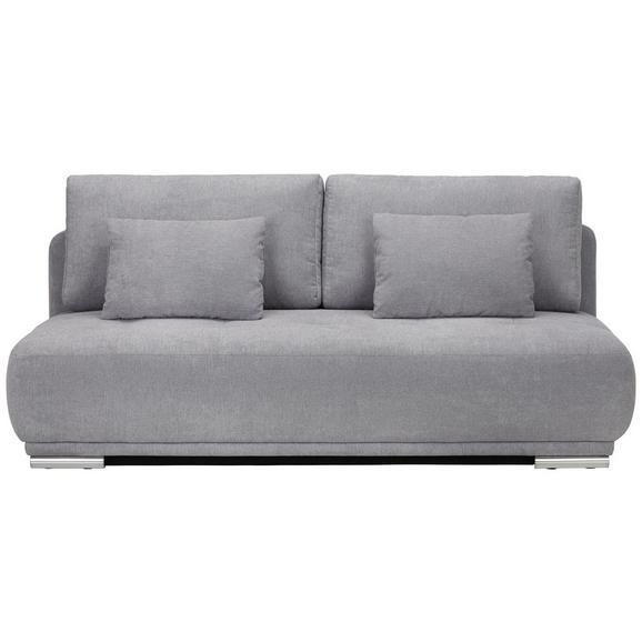 Schlafsofa in Grau mit Bettfunktion - KONVENTIONELL, Textil (208/93/108cm) - Premium Living