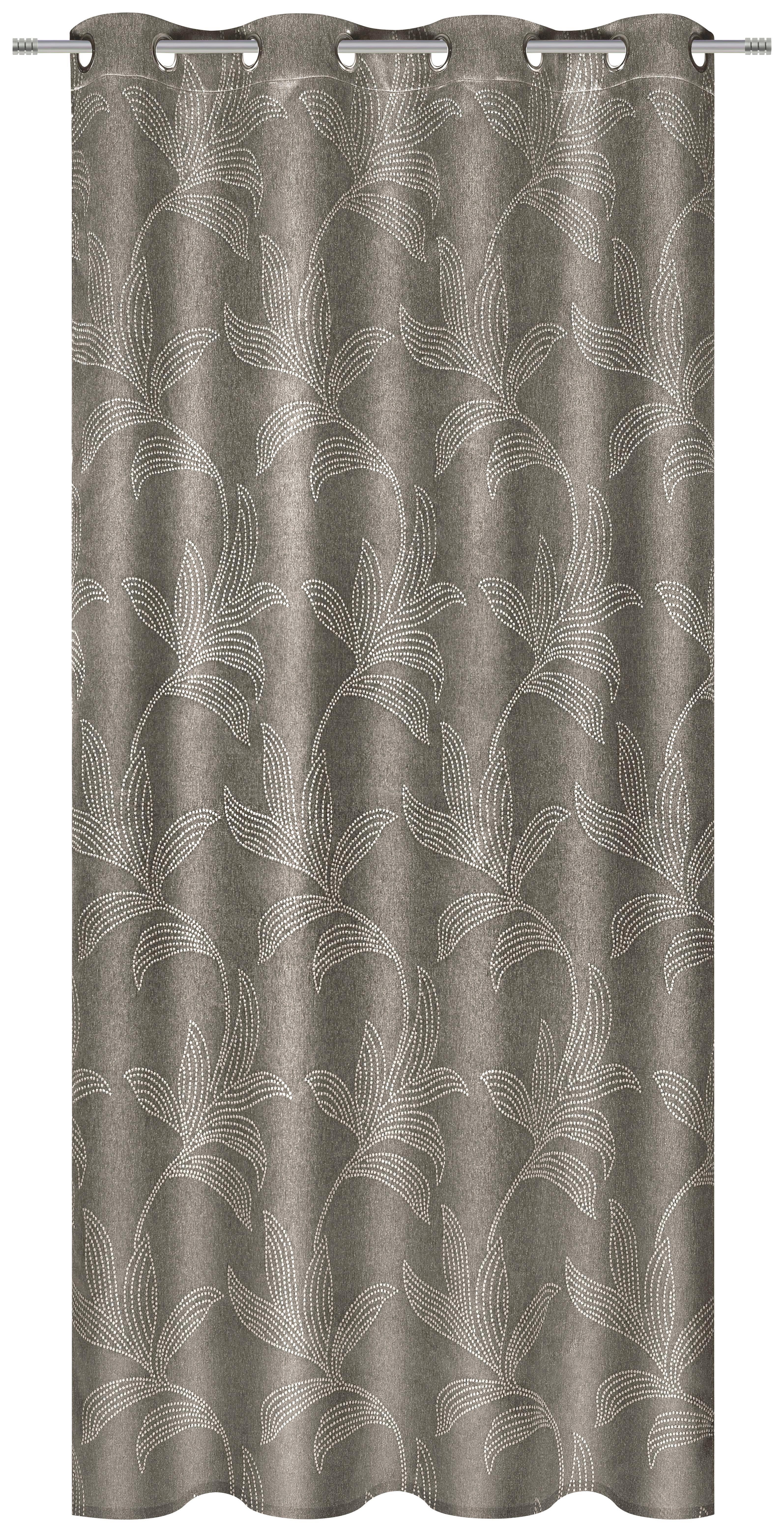 KÉSZFÜGGÖNY LINDA - barna, konvencionális, textil (140/245cm) - MÖMAX modern living