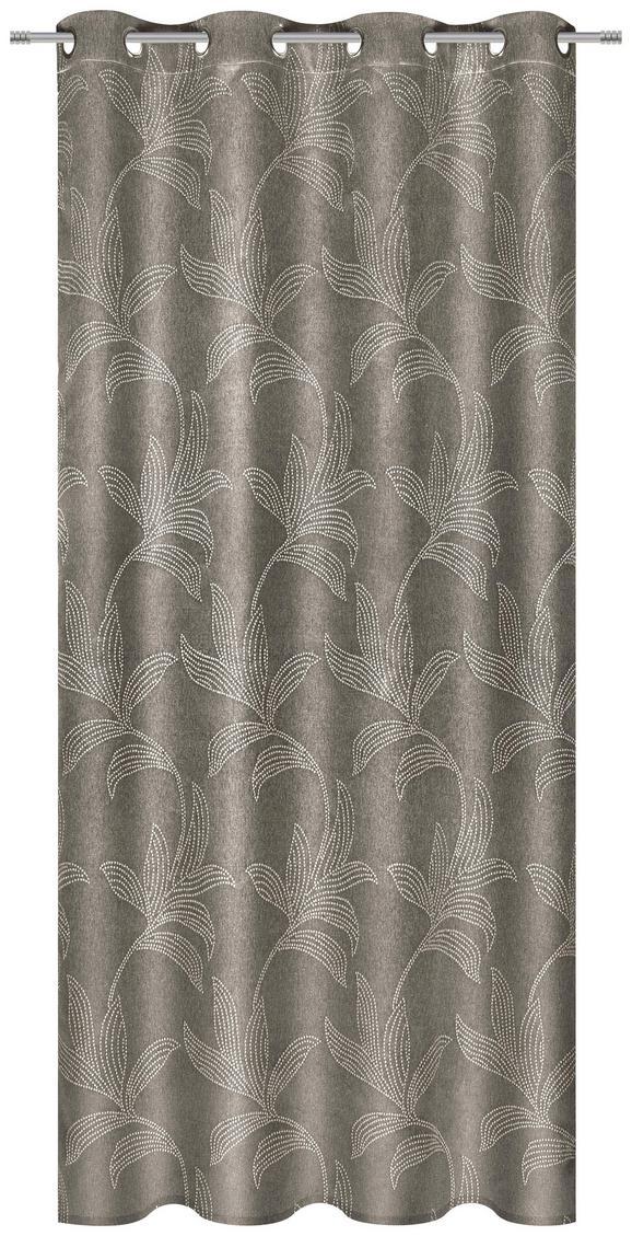 Ösenvorhang Linda in Braun, ca. 140x245cm - Braun, KONVENTIONELL, Textil (140/245cm) - MÖMAX modern living
