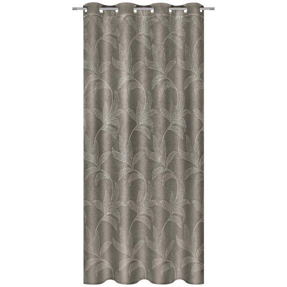 Zavesa Z Obročki Linda - rjava, Konvencionalno, tekstil (140/245cm) - Mömax modern living