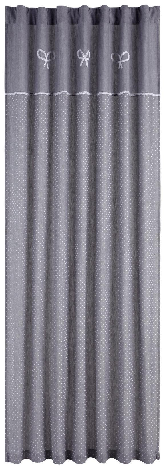 Schlaufenschal Elisabeth Grau 140x245cm - Grau, ROMANTIK / LANDHAUS, Textil (140/245cm) - ZANDIARA