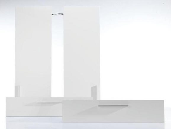Türenset Weiß/chrom aus Holzwerkstoff - MODERN (72/103/2cm) - Mömax modern living