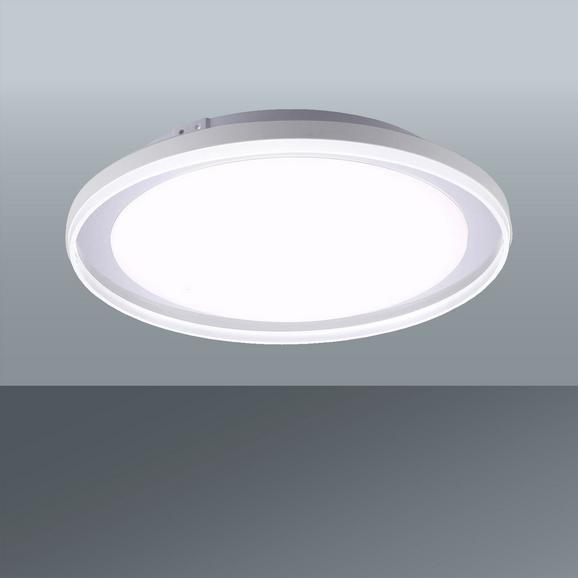 LED-Deckenleuchte Lars max. 40 Watt - Silberfarben, Kunststoff/Metall