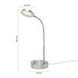 Lampă De Birou Holger - culoare crom, Modern, metal (20/30cm) - Modern Living