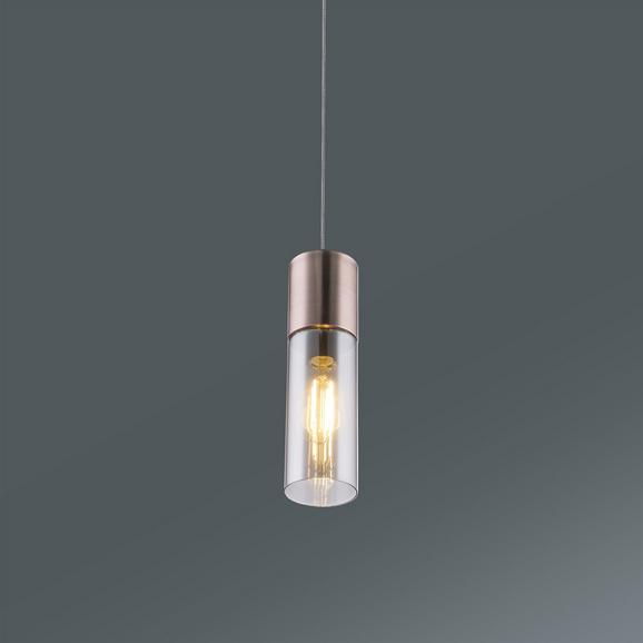 Hängeleuchte Annika max. 25 Watt - Kupferfarben, Glas/Metall (9/152,5cm)