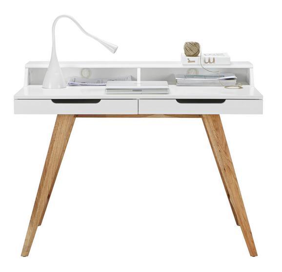 Íróasztal Durham - Barna/Fehér, modern, Faalapú anyag/Fa (110/85/58cm) - Mömax modern living