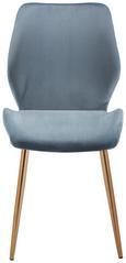 Stuhl Lene - Blau/Goldfarben, MODERN, Holz/Textil (45/87/55cm) - Modern Living