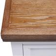 Nachtkästchen Melanie - Weiß/Kieferfarben, MODERN, Holz/Metall (59/60/48cm) - Modern Living