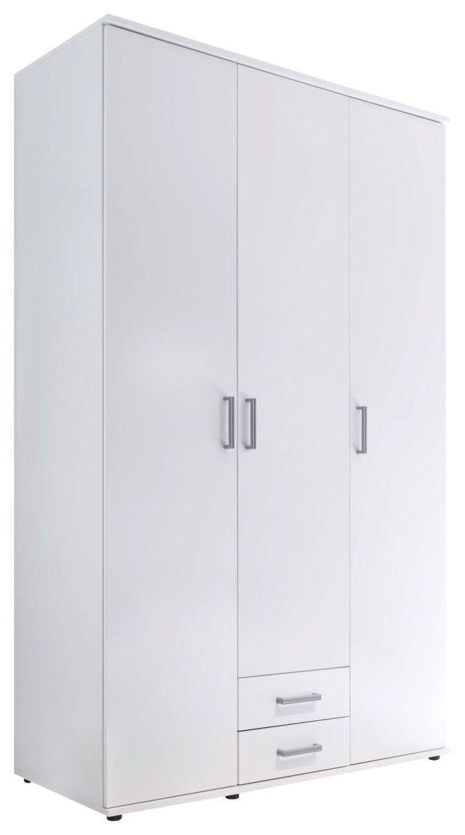 Omara S Klasičnimi Vrati Olli - aluminij/bela, umetna masa/leseni material (120 195 55cm) - Mömax modern living
