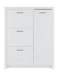 Schuhschrank Weiß Hochglanz - Alufarben/Weiß, Holzwerkstoff/Metall (101,5/127,5/28cm) - Mömax modern living