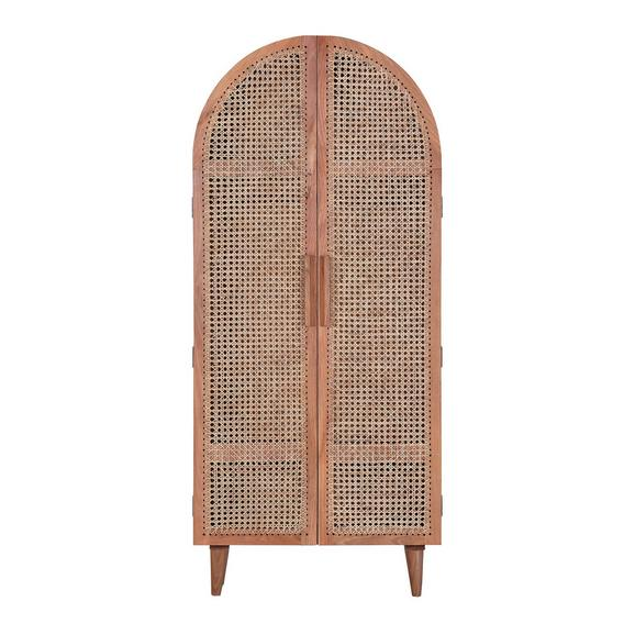 Kleiderschrank aus Mangoholz massiv - Naturfarben, LIFESTYLE, Holz (90/190/48cm) - Premium Living