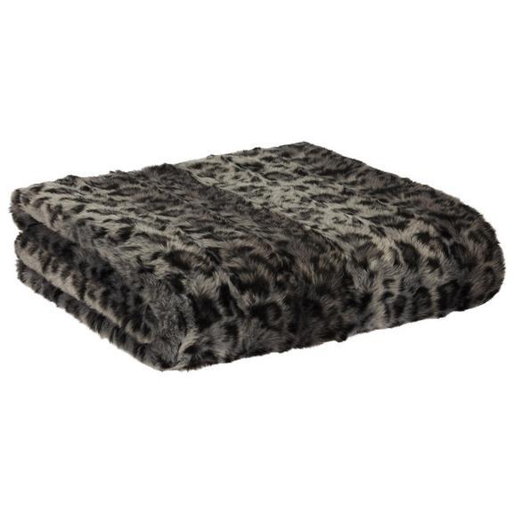 Felldecke LC in Weiß/Grau - Weiß/Grau, MODERN, Textil (130/170cm) - Premium Living