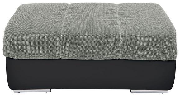Tabure Multi - boje srebra/boje kroma, Modern, tekstil/metal (100/43/80cm)
