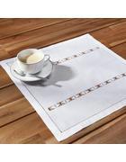 Tischset Mona ca.40x40cm - Weiß, ROMANTIK / LANDHAUS, Textil (40/40cm) - Bessagi Home