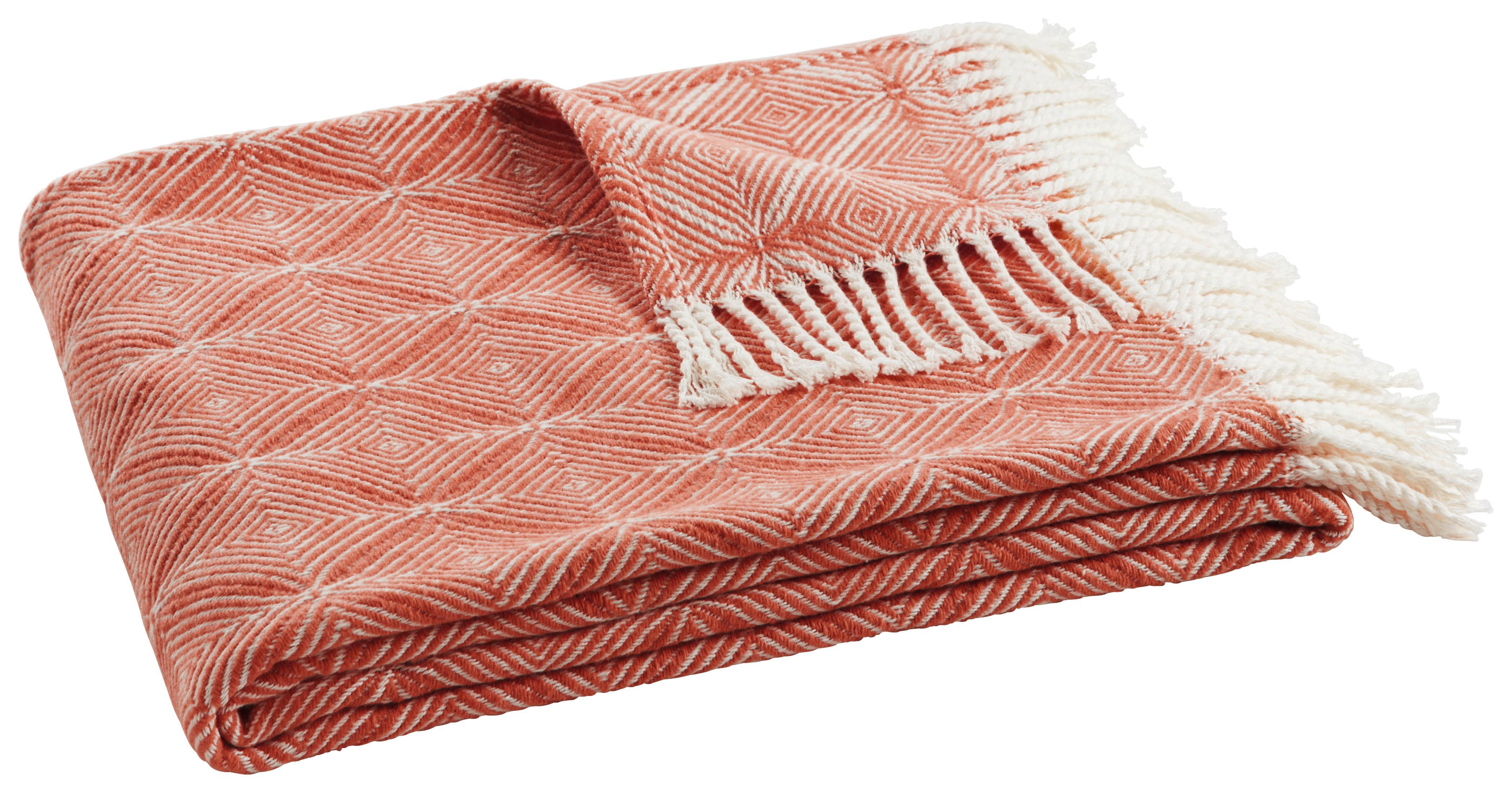 Image of Decke Samira in Natur/Orange ca. 130x170cm